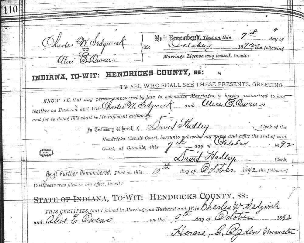 sedgwick county marriage records